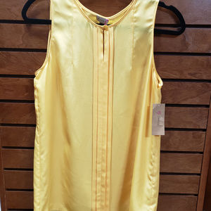Cremieux small fall gold sleeveless blouse